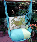 Meadow Mist Crab in Marsh Hammock Chair Swing Set