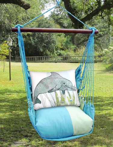 Meadow Mist Dolphin Hammock Chair Swing Set - Click to enlarge