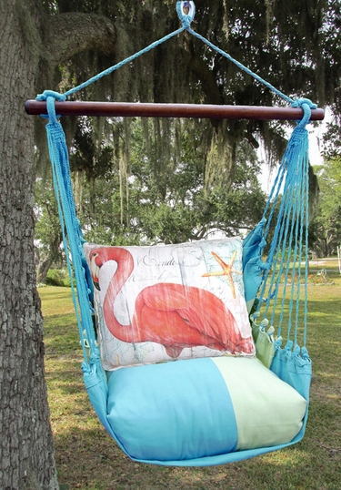 Meadow Mist Grand Flamingo Hammock Chair Swing Set - Click to enlarge