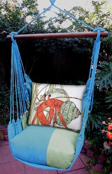 Meadow Mist Hermit Crab Hammock Chair Swing Set - Click to enlarge