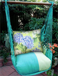Meadow Mist Hydrangea Hammock Chair Swing Set