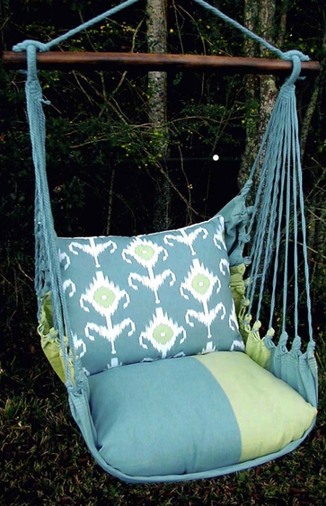 Meadow Mist Ikat Design Hammock Chair Swing Set - Click to enlarge