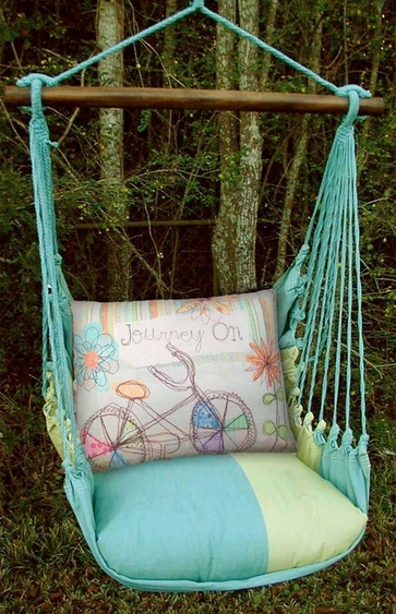 Meadow Mist Journey On Hammock Chair Swing Set - Click to enlarge