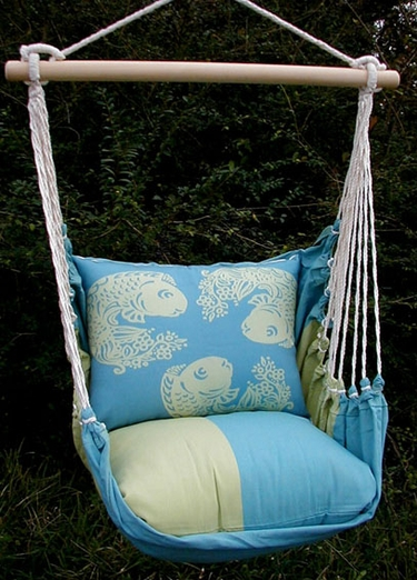 Meadow Mist Koi Fish Hammock Chair Swing Set - Click to enlarge