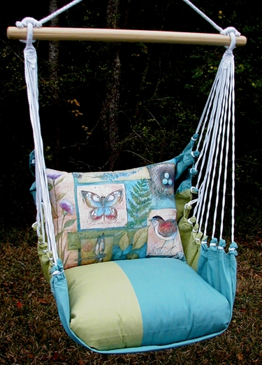 Meadow Mist Nature Walk Hammock Chair Swing Set - Click to enlarge