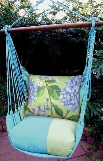 Meadow Mist Purple Hydrangea Hammock Chair Swing Set - Click to enlarge