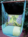 Meadow Mist Purple Hydrangea Hammock Chair Swing Set