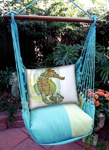 Meadow Mist Seahorse in Marsh Hammock Chair Swing Set - Click to enlarge