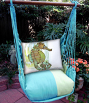 Meadow Mist Seahorse in Marsh Hammock Chair Swing Set
