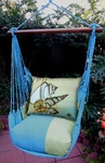 Meadow Mist Seashells Hammock Chair Swing Set