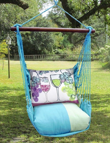 Meadow Mist Wine Glasses Hammock Chair Swing Set - Click to enlarge