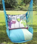 Meadow Mist Wine Glasses Hammock Chair Swing Set