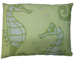 Meadow Seahorses Outdoor Pillow