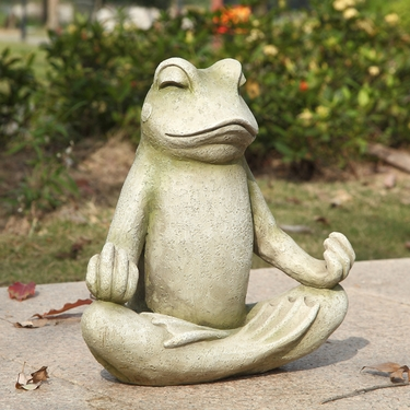 Meditating Lotus Frog Statue - Click to enlarge