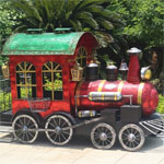 Medium Christmas Train - Red