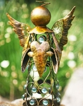 Medium Filigree Angel Statue - Gold