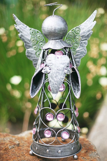 Medium Filigree Angel Statue - Pewter - Click to enlarge