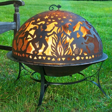 Medium Fire Pit w/ Full Moon Party FireDome - Click to enlarge