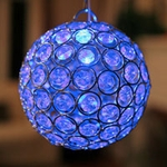 Medium Glam Ball LED - Blue