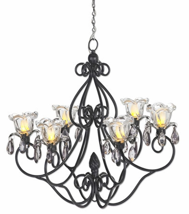 Medium Hannah Series Chandelier - Black - Click to enlarge