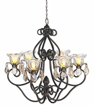 Medium Hannah Series Chandelier - Bronze - Click to enlarge