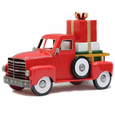 Medium Red Christmas Truck w/Gifts - Click to enlarge