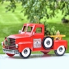 Medium Red Christmas Truck w/LED Tree