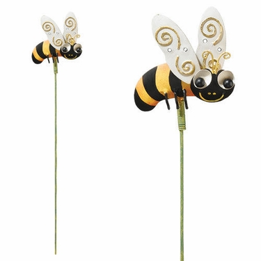 Metal Bee Garden Stakes (Set of 6) - Click to enlarge