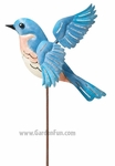 Metal Bluebird Jiggle Wings Stake