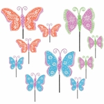 3 DOZEN Metal Butterfly Garden Picks!