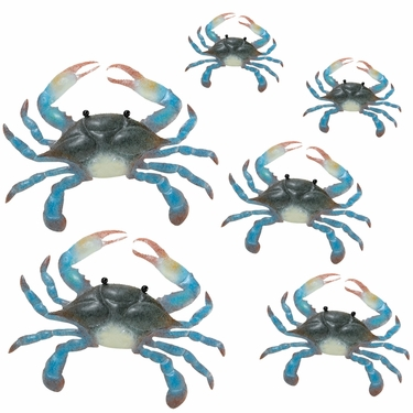 Blue Crab Wall Decor (Set of 6) - Click to enlarge