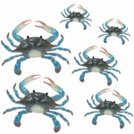 Blue Crab Wall Decor (Set of 6)