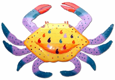 Metal Crab Wall Decorations (Set of 3) - Click to enlarge