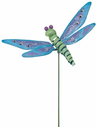 Metal Dragonfly Garden Stake - Click to enlarge