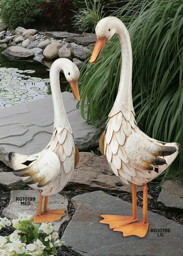 Metal Duck Decor (Set of 2) - Click to enlarge