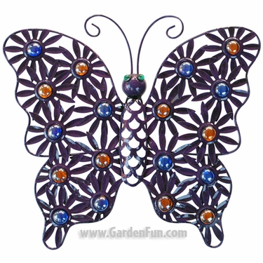 Metal Filigree Butterfly Wall Decor - Click to enlarge