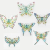 "26"" Colorful Butterfly Wall Decor (Set of 6)"