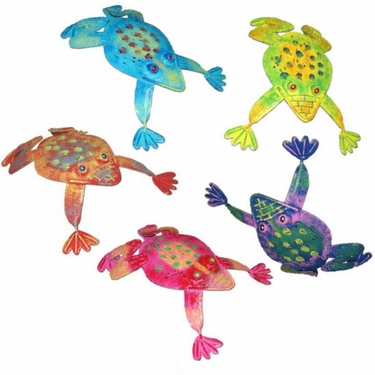 Metal Frog Friends (Set of 5) - Click to enlarge