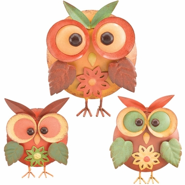 Metal Owl Decor (Set of 3) - Click to enlarge