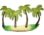 Metal Palm Trees Wall Art