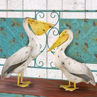 Pelican Birds Mixed Pair (Set of 2) - Click to enlarge