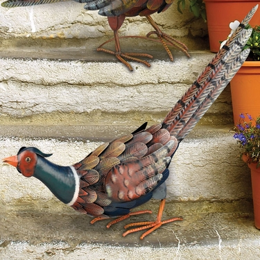 Metal Pheasant Bird Bending - Click to enlarge