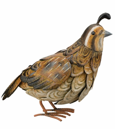 Metal Quail Bird - Female - Click to enlarge