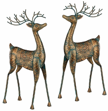 Metal Reindeer Decorations (Set of 2) - Click to enlarge