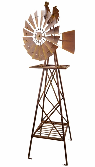 Metal Rooster Windmill Only 179 99 At Garden Fun