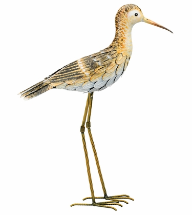 Metal Sandpiper Bird - Upright - Click to enlarge