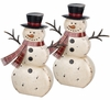 "18"" Rustic Snowman Decor (Set of 2)"