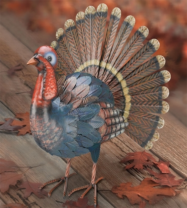 Metal Turkey Decor - Click to enlarge
