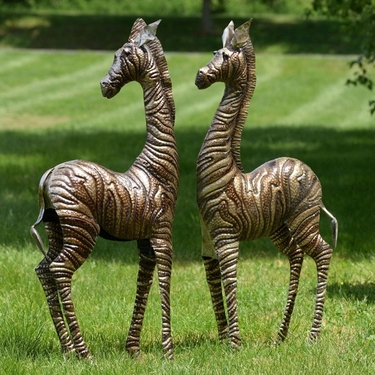 Metal Zebras - Silver & Gold - Click to enlarge