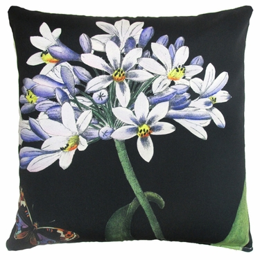 Midnight Flowers Outdoor Pillow - Click to enlarge